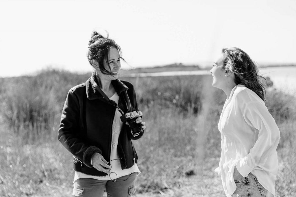 Cécile Desserle avec ses modèles