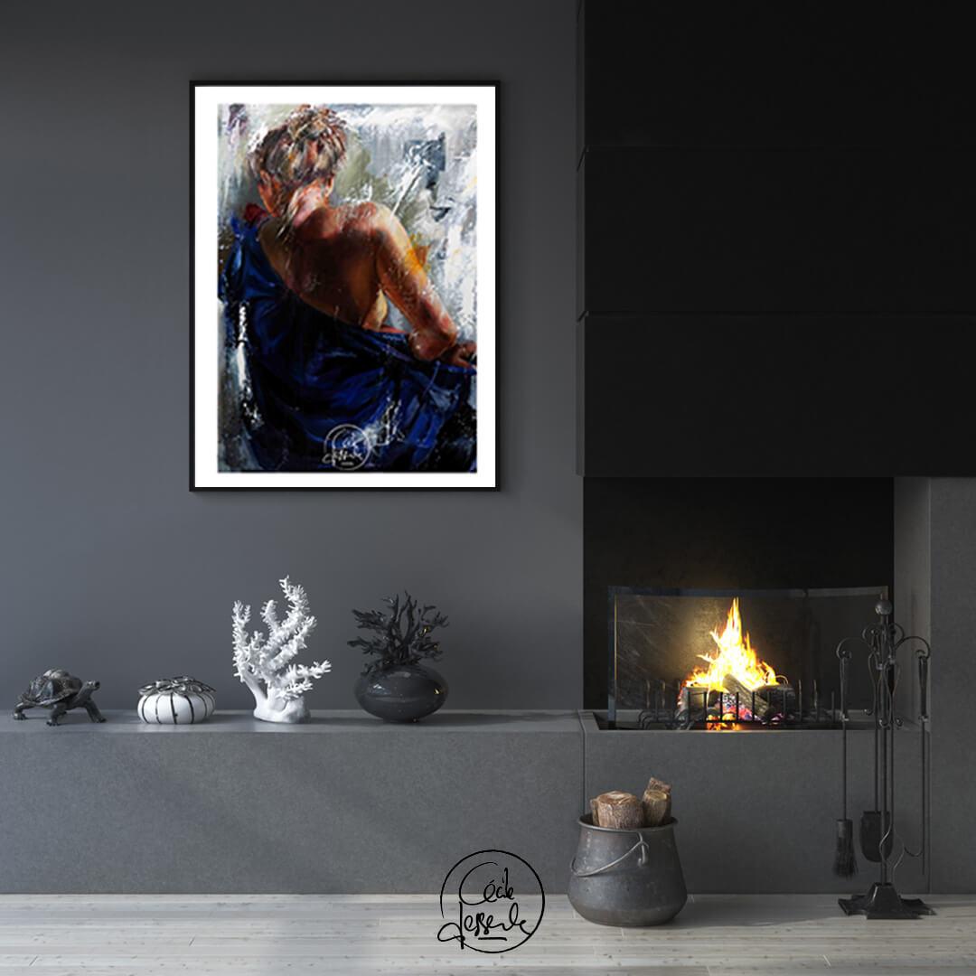 Cécile Desserle, L'ange bleu mockup